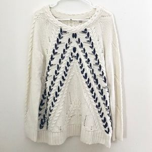 Anthropologie Knitted & Knotted Chunky Sweater